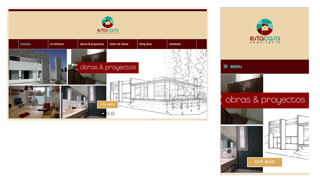 Sitio web en WordPress para Estacasa Arquitecta