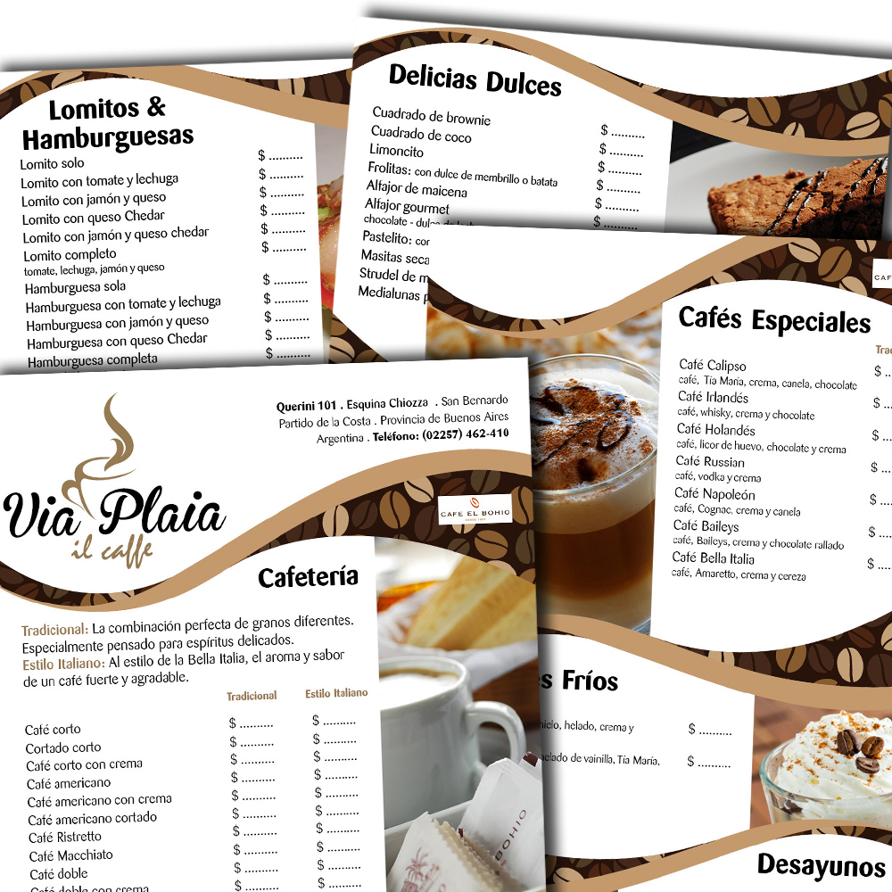 via-plaia-cafeteria-menu